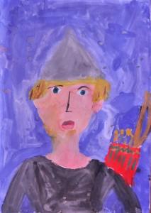 Воин. (Титова Анна, 9 лет)