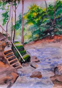 Гебиусские водопады. (Заливина Вера, 14 лет)