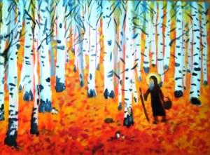 Прп. Сергий Радонежский в лесу. (Шелаев Серафим, 10лет )