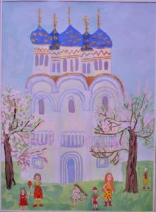 Успенский собор Троице-Сергиевой Лавры. (Шишка Екатерина, 6 лет)