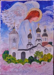 Храм свт. Николая Мерликийского в Уланском переулке. (Варшавер Александра, 12 лет)